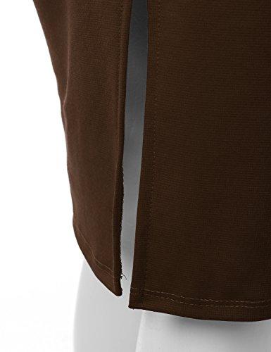 f211b2de3 Doublju Stretch Knit Midi Pencil Skirt With Back Slit For Women With Plus  size (Made