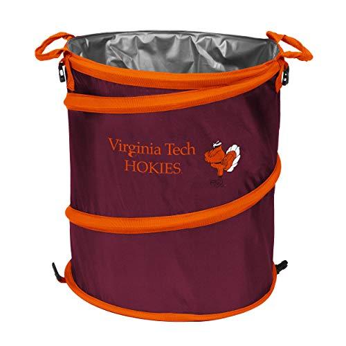 NCAA Virginia Tech Hokies Adult Collapsible 3-in-1 Trash Can, Maroon