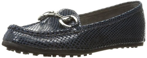 Slip Women's Through Aerosoles Drive Blue On Snake Loafer qUqtBxnawp