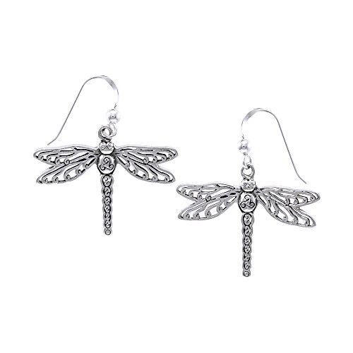 Jewelry Trends Sterling Silver Celtic Triskele Dragonfly Dangle (Dragon Triskele)