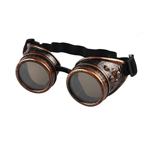 Mchoice Vintage Style Steampunk Goggles Welding Punk Glasses Cosplay - Goggles Wayfarer