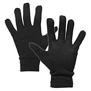 Touch Screen Running Gloves for Men & Women – Thermal Winter Glove Liners for Texting, Cycling & Driving – Thin & Lightweight Warm Hand Gloves – Touchscreen Smartphone Compatible – Super Grippy Palm