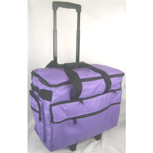 Classy Sewing Machine Trolley in Purple Brother Sewing