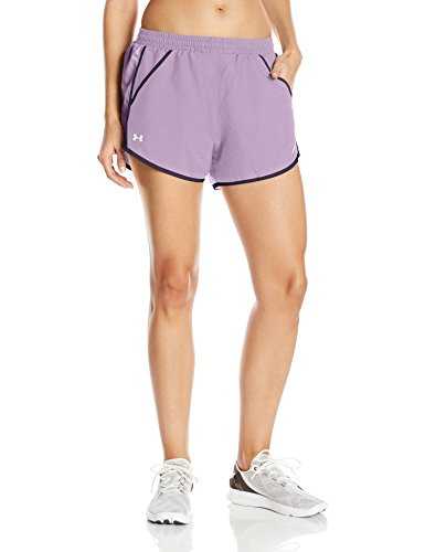 Under Armour Fly By Short Pantalones Cortos, Mujer Morado (Fresh Orchid)