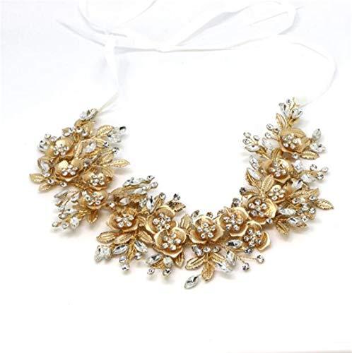 Silver Floral Bridal ece Tiara Wedding Hair Accessories Hair Vine Handmade Headband Hair Jewelry For Bride kc -