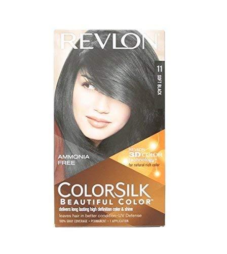 Revlon ColorSilk Beautiful Color, Soft Black [11] 1 ea (Pack of 2)