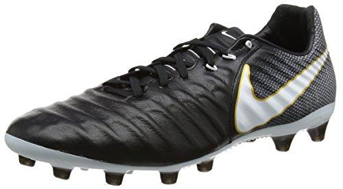 Nike Tiempo Legacy III AG-Pro, Scarpe da Calcio Uomo Nero (Black/White-black-metallic Vivid Gold)