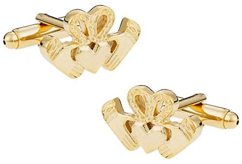Cuff-Daddy Gold Claddagh Cufflinks Traditional Irish Symbol