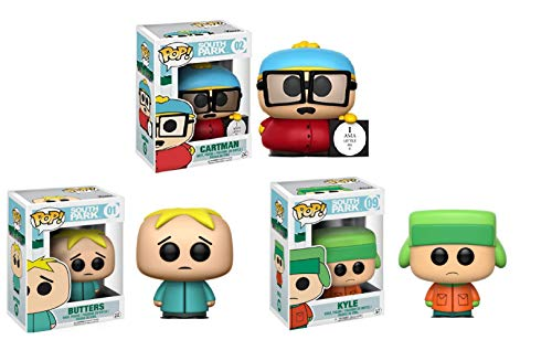South Park Exclusive Funko Pop Figure Set of 3 Includes: Cartman , Butters & Kyle from South Park