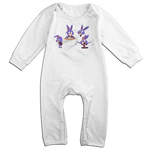 CAPA Kid Rabbit Cartoon Long Sleeve Bodysuit Winter Jumpsuit White 24 Months]()
