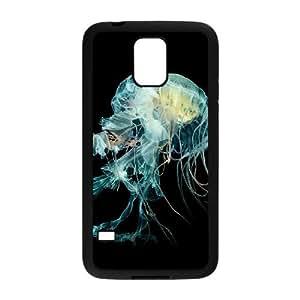Samsung Galaxy S5 Cell Phone Case Black Nature Fantasy Undersea Jellyfish Art OJ663928