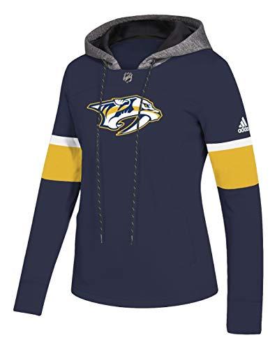 - adidas Nashville Predators Women's NHL Offsides Premium Hooded Sweatshirt