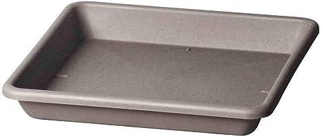 Teraplast 09704327 Platillo cuadrado, Terracota, 27 x 27 x 3.9 cm ...