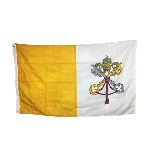 4x6' Vatican City Papal Flag, All Weather Nylon for Outdoor, Made in USA
