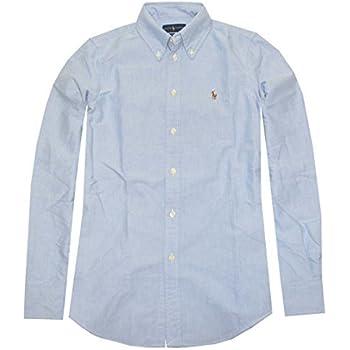 ba839f35b Polo Ralph Lauren Womens Custom Fit Oxford Button Down Shirt, White ...