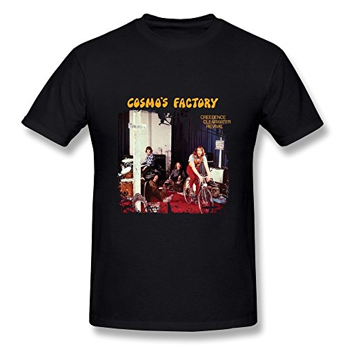 Huba Mens T Shirts Creedence Clearwater Revival Cosmo Factory Black Size Xxl