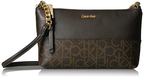 ef5569cac Calvin Klein Hayden Monogram Crossbody, Brown Khk Espresso Stripe - Buy  Online in UAE. | Apparel Products in the UAE - See Prices, Reviews and Free  Delivery ...