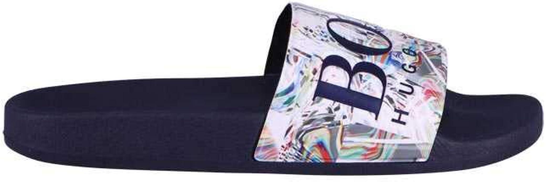 Hugo Boss | 50388496 120 Solar Flip Flop Slider - Black Multi 9 Navy: Amazon.es: Zapatos y complementos