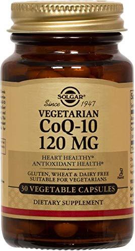 Solgar Vegetarian CoQ-10 Vegetable Capsules, 120 mg, 30 Count