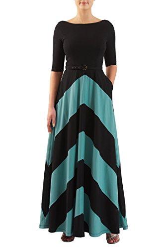 Buy belted chevron stripe dress - 7