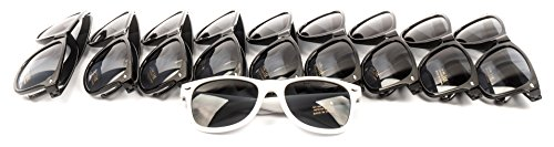 10 Piece Set of Bride Tribe and Bride Sunglasses, Perfect for Bachelorette Parties, Weddings, and Showers! (Black)