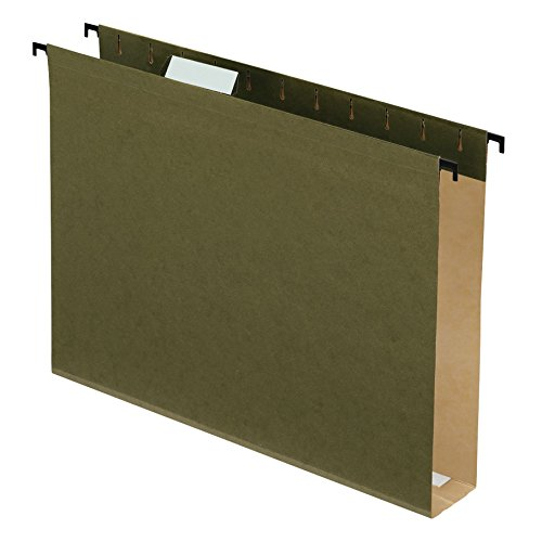 Pendaflex SureHook Extra Capacity Reinforced Hanging Folders, Letter Size, Standard Green, 20 per Box (6152X2)