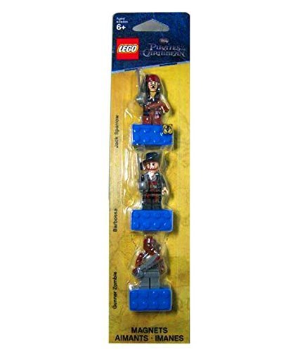 Lego Pirates of the Caribbean Magnet Set: Jack Sparrow, Hector Barbossa and Gunner Zombie]()