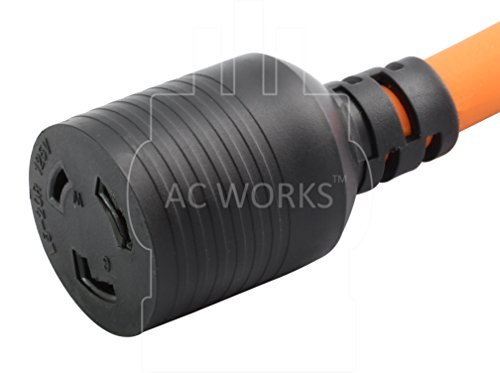 AC WORKS [S515L520-012] 1FT STW 12/3 Locking Adapter Cord 15Amp Household Plug to L5-20R 20Amp Locking Female Connector by AC WORKS (Image #3)