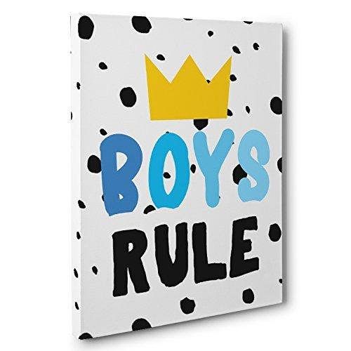 Boys Rule Canvas Wall Art