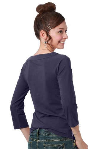 Sweet Mommy maternidad y lactancia camiseta de manga tres cuartos Shirt azul marino