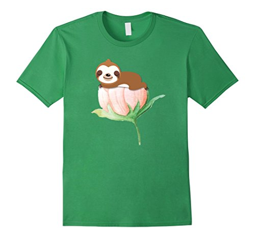 Springtime Sleeping Sloth, Funny Sloths Lover T-Shirt -