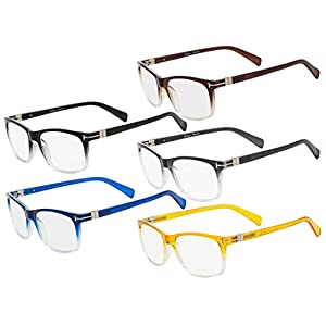 Eyekepper 5-pack Reading Glasses Fashion Reading Eyeglasses Men Women +0.50