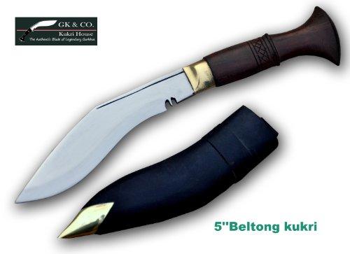Genuine Gurkha Kukri – 5 Blade Biltong Wooden Handle Kukri- Handmade by GK CO.Kukri House in Nepal.