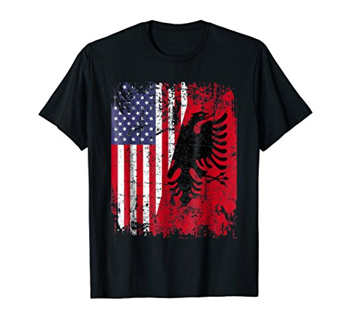 ALBANIAN ROOTS TSHIRT | Red Eagle | ALBANIA SHIRT | American