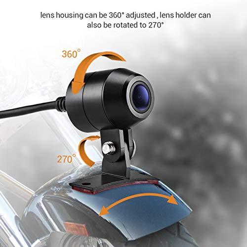 "Blueskysea DV128 Motorcycle Dash Cam 1080P Dual Lens Video Recorder Motorcycle Camera 2.7/"" LCD Front and Rear Waterproof DVR with G-Sensor Loop Recording,GPS,Manual Lock,Night Vision,130 Degree Angle"