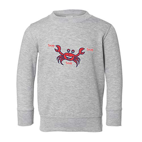 (Snap Snap Snap Long Sleeve Taped Neck Toddler Boys-Girls Cotton/Polyester Cute Sweatshirt - Oxford Gray,)