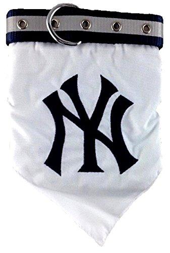Pets First MLB Bandana - New York Yankees Dog Bandana with Reflective & Adjustable Dog Collar, Large