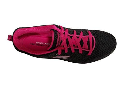 Skecher Damestop Pisa - Petal Joy Sneakers Zwart / Roze