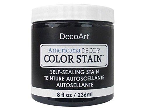 (DecoArt 8ozBlack Americana Decor Color Stain 8oz Black )