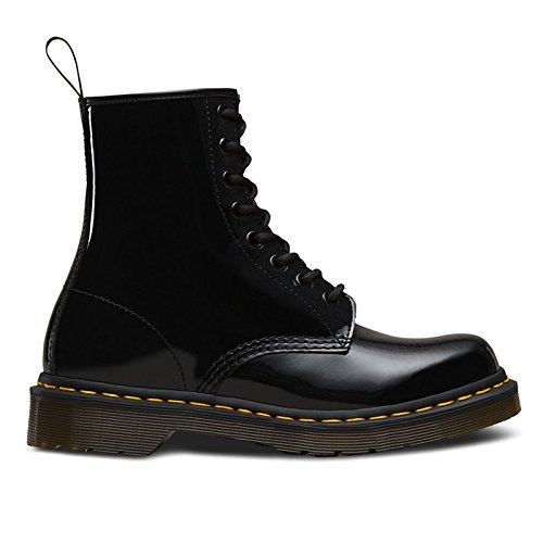 Dr. Martens Women's 1460 8-Eye Boot Patent,Black Patent Lamper,UK 6.5 M