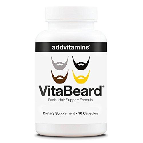 VitaBeard® - die Multivitaminbombe für mehr Bart. Enthält außerdem Zink gegen Haarausfall, PABA gegen graue Haare und Biotin. Ideal für wild wachsende Vollbärte und stylische Kreationen. 90 Kapseln.