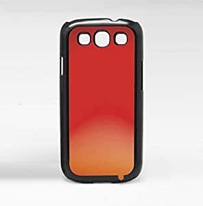 Red, Orange, and Peach Ombre Gradient Hard Snap on Phone Case (Galaxy s3 III)