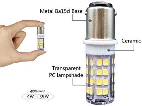 B15 Bombilla[2 unidades]SFTlite SBC Ba15D 4W LED Bombilla Blanco ...