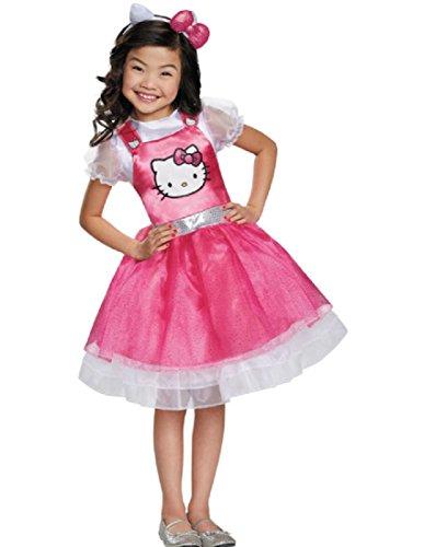 Hello Kitty Pink Deluxe Costume, Medium (Girls Hello Kitty Costumes)