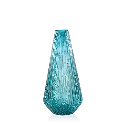 Torre & Tagus Glacier Tapered Glass Vase Short - Teal,