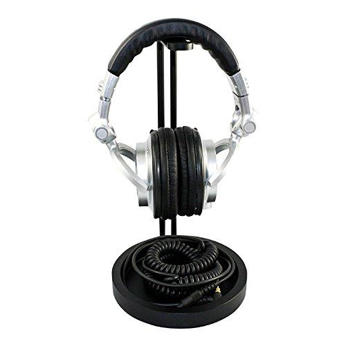 Price comparison product image tekbotic Headphone Stand Aluminum - Topple-Free Gaming Headset Stand Hanger (Matte BAT Black)