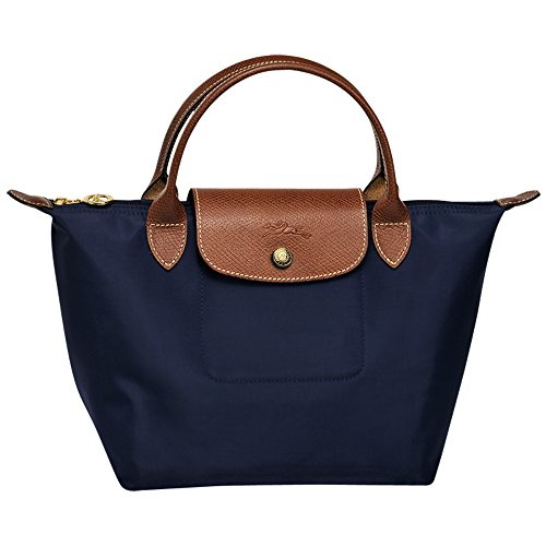 Longchamps Le Pliage Small Shoulder Tote Bag Navy - Shoulder Longchamp Bag Small