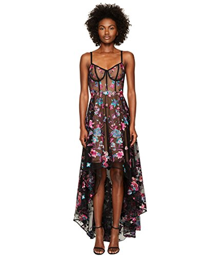 ファッション眼調停する[マルケッサ ノッテ] Marchesa Notte レディース Embroidered Tulle High-Low Gown w/ Corset Bodice ドレス [並行輸入品]