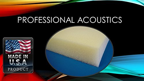 Professional 3''x 24''x 72'' Dry Fast Reticulated Foam Sheet by PROFESSIONAL ACOUSTICS FOAM