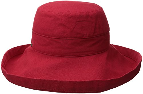 - Scala Women's Cotton Hat with Inner Drawstring and Upf 50+ Rating,Red,One Size